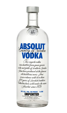 Absolut Vodka 1,0 ltr
